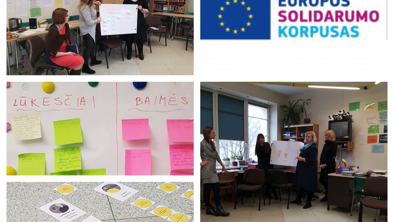 """Europos solidarumo korpuso programos projektas """"Volunteering for Solidarity Education"""""""